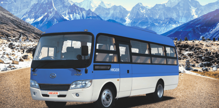 Higer bus Nepal